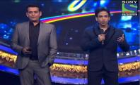 Indian Idol Junior - Grand welcome of Tusshar Kapoor and Ravi Kishan